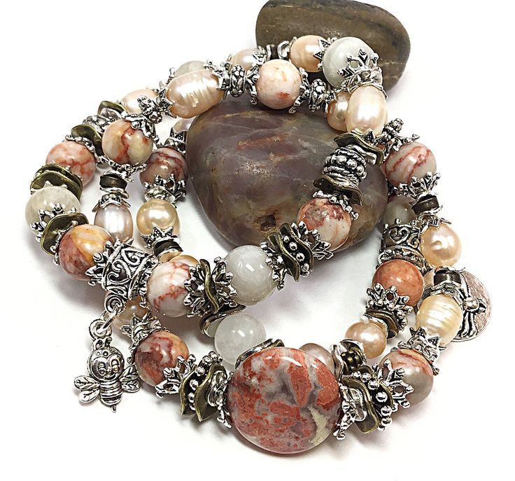 A personal favorite from my Etsy shop https://www.etsy.com/listing/509915686/jasper-bracelets-set-of-3-bracelets