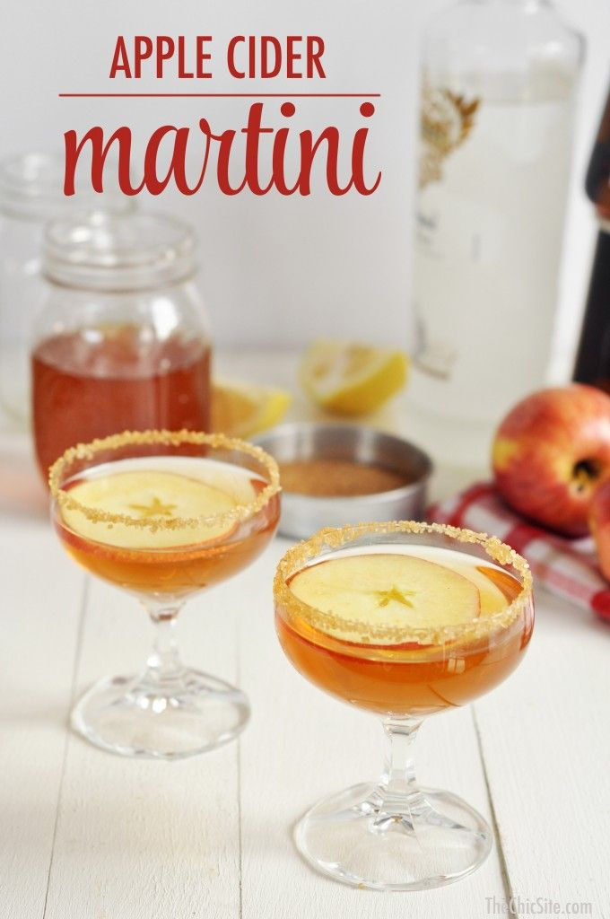 It's an Apple Cider Martini and it's here to make all your parties just a little bit better.