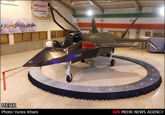 Iran's new fighter looks like the designers went back through a catalog of cool combat aircraft, picked out the coolest bits, and just stuck them all together to make a new airplane with a badass look about it.