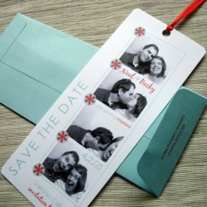 Save the date! cute idea AND I wann a have a photo booth at my wedding for the guests to take pictures
