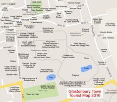 A handy map to help you find your kind of people in Glastonbury Town.
