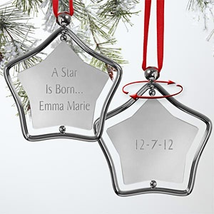 Best 25 baby christmas ornaments ideas on pinterest salt dough engraved silver star personalized baby christmas ornament 7440 solutioingenieria Choice Image