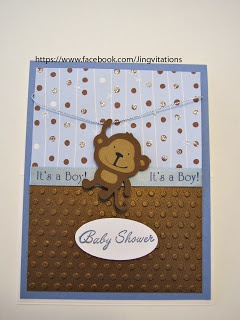 Monkey Baby Card