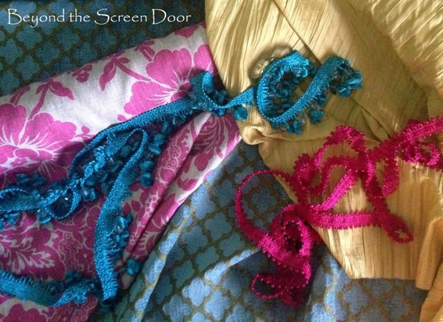 Pink & Turquoise Home Office Curtains | Beyond the Screen Door