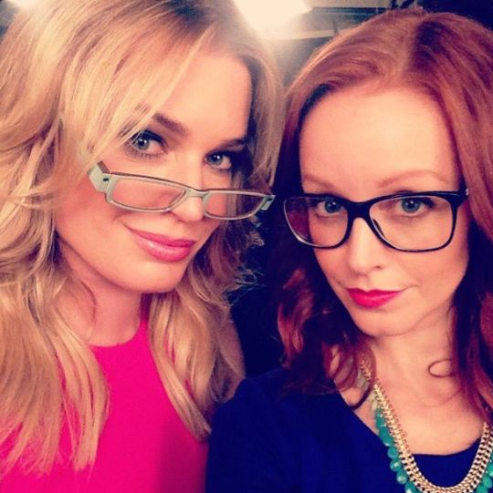 Lindy Booth and Rebecca Romijn.