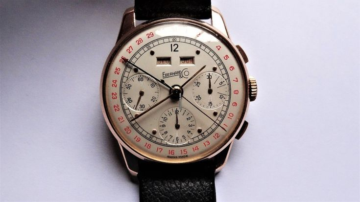 Eberhard & Co. ad: $4,360 Eberhard & Co. Triple Date Valjoux