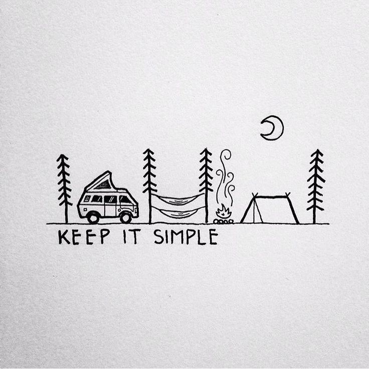Illustration by: @david_rollyn #ourcamplife | keep life simple