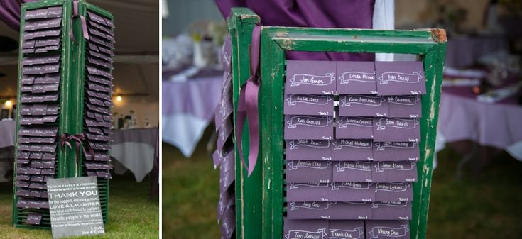Purple & Green Waterside Washington Wedding-seating for reception