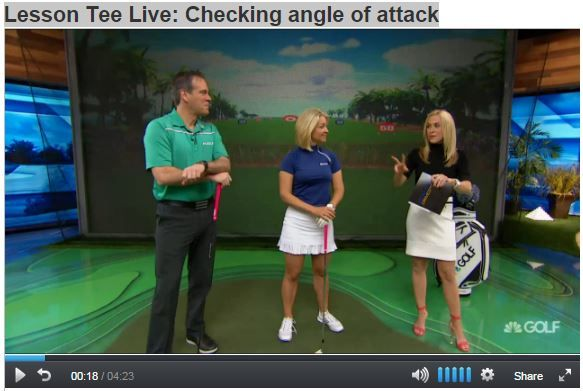 esson Tee Live: Checking angle of attack Video:  http://www.golfchannel.com/media/lesson-tee-live-checking-angle-attack/