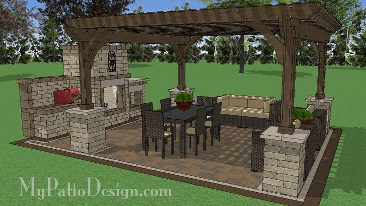 16 ft. x 16 ft. Pergola with Columns Design | Perfect for ... on 10X20 Patio Ideas id=45742