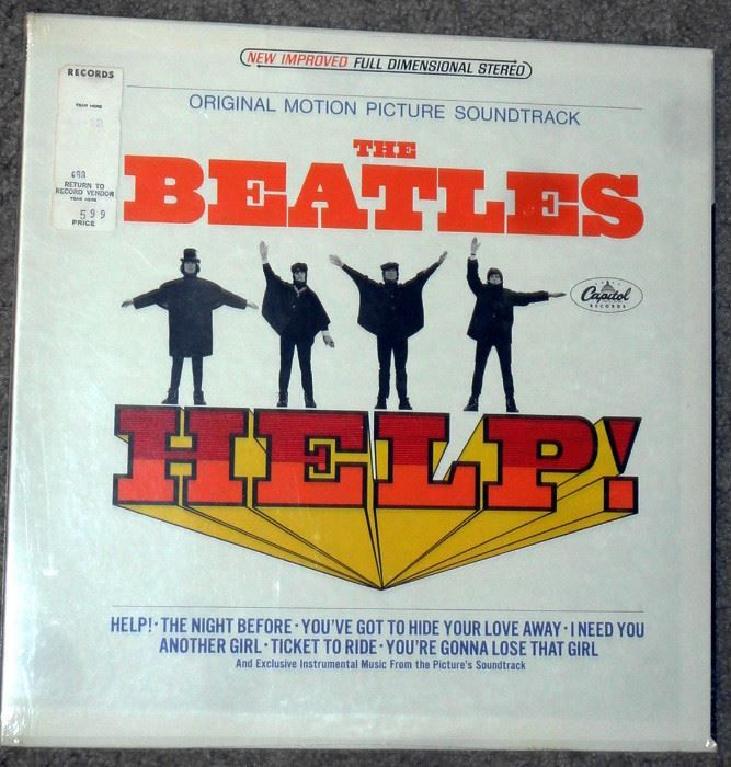 Found on EstateSales.NET: Sealed first pressing album Help by The Beatles movie version