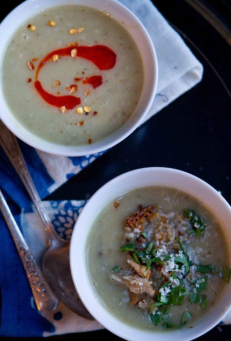 Sunchoke and garlic soup. It's hard to write about sunchokes without mentioning two things: the name is confusing, and they can cause embarrassing gas.