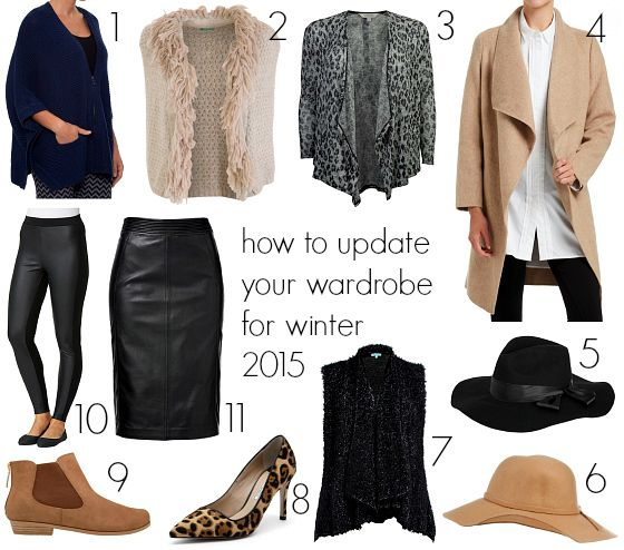How to update your wardrobe for winter 2015