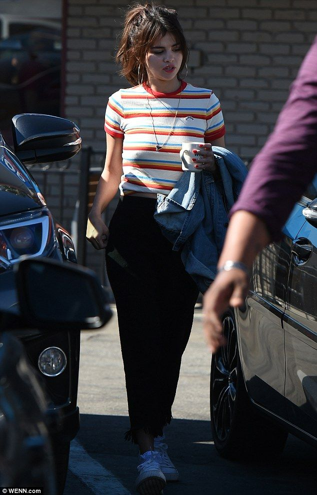 On the move: Selena Gomez was throwback chic when she was snapped out and about in Los Angeles on Wednesday