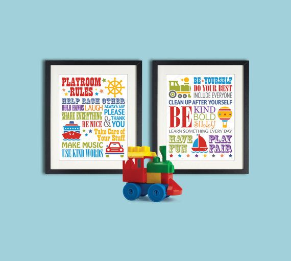 Playroom Rules Playroom Sign Toddler boy room decor ...