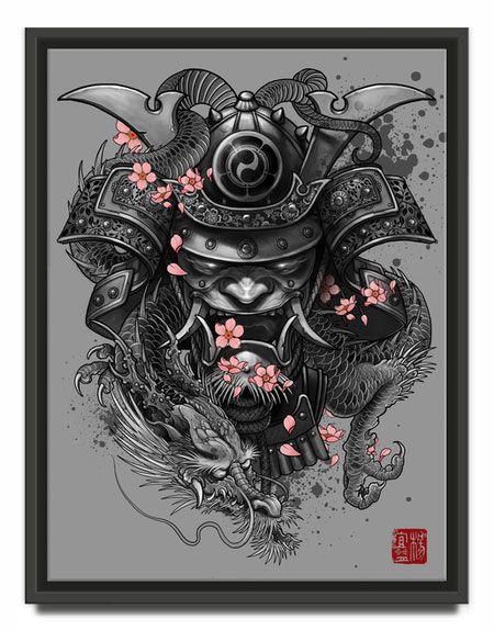 Dragon samurai artwork by elvintattoo
