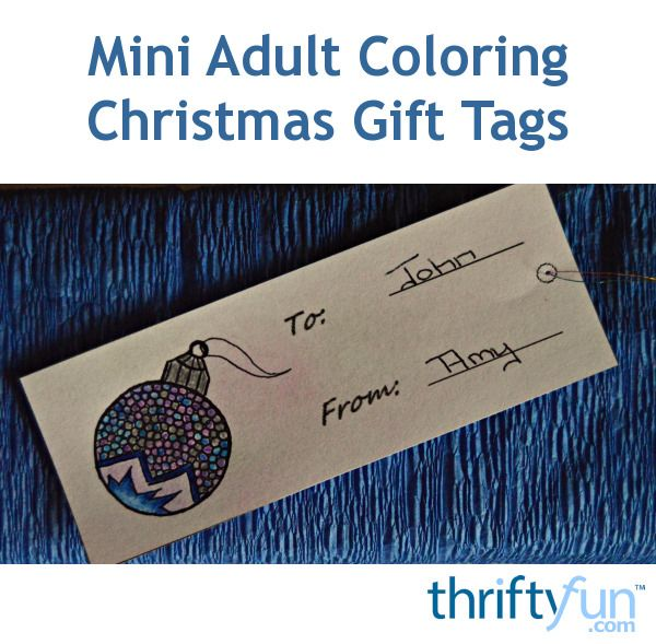 Download, print and color these free Christmas gift tags.
