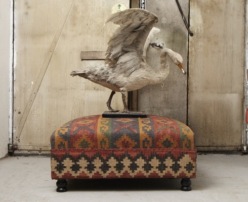 Kelim ottoman & swan.