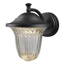 Hardware House Large LED Lantern with Crystalline Glass - Textured Black