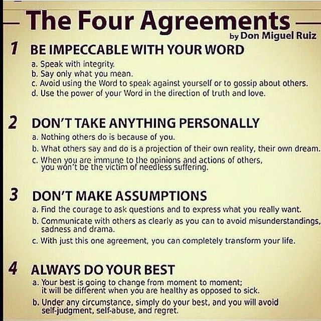 1000 Ideas About The Four Agreements On Pinterest