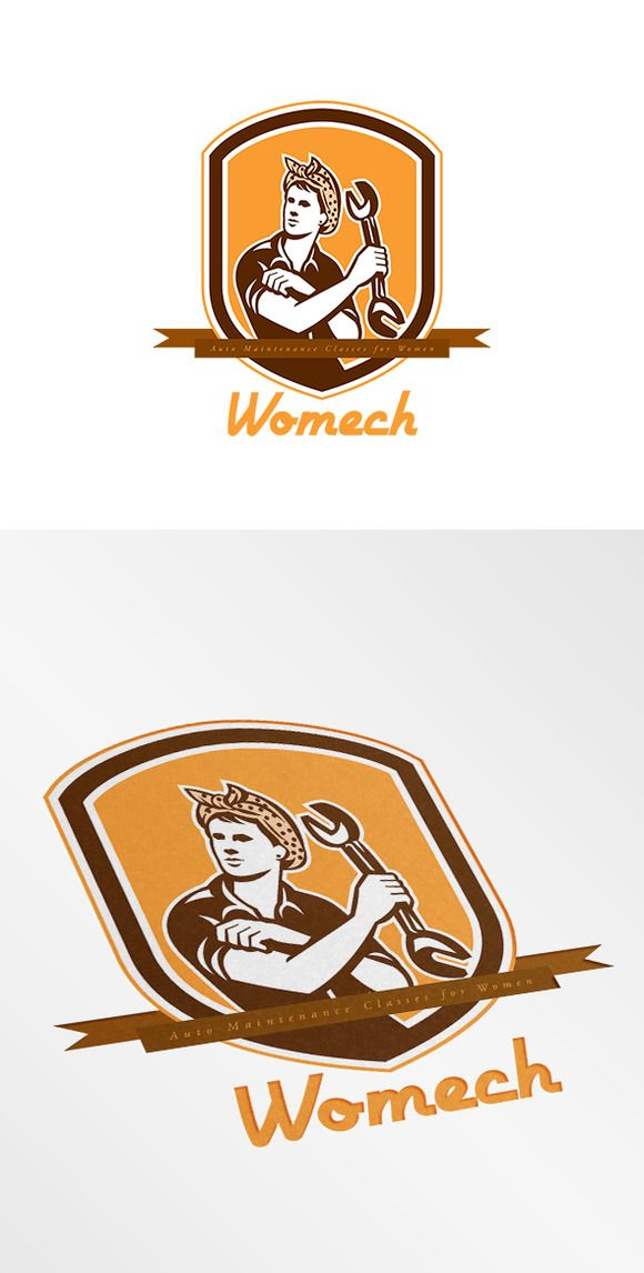 Womech Auto Maintenance Logo by patrimonio on Creative Market