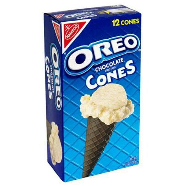 Nabisco oreo chocolate cones are vegetarian and halal.