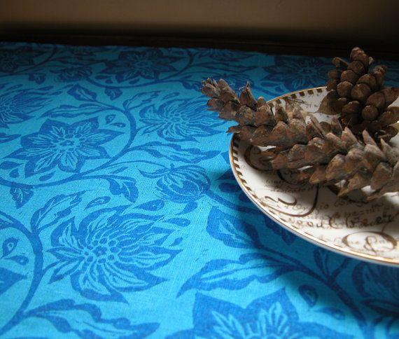 Ultramarine blue passion flower on Pacific blue tea by giardino, $22.00