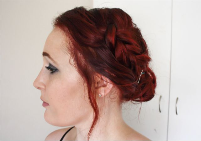 Double Sided Braid Updo #beauty #beautyblogger #beautyblog #bblogger #bblog #hair #bob #shorthair #hairstyle