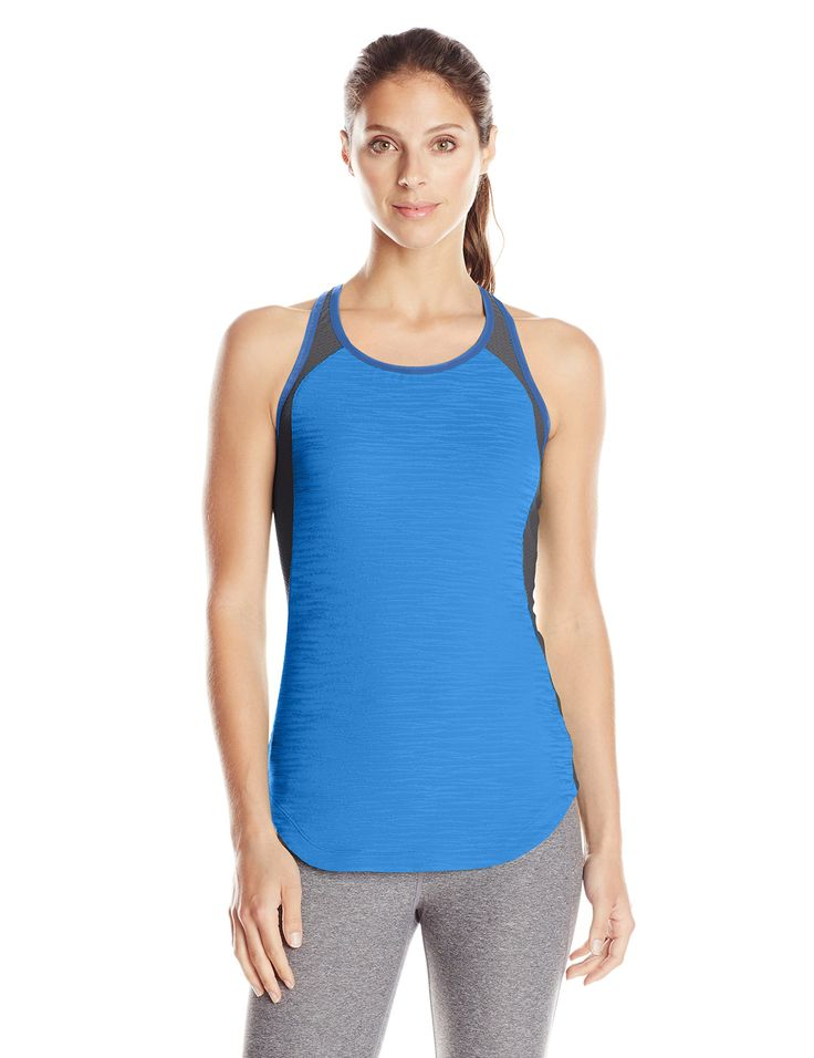 Pearl iZUMi Women's Flash Singlet, Sky Blue/Shadow Grey, Large. 92% Polyester 8% Elastane. Imported product. Transfer dry fabric pulls sweat away from your skin. Racerback design allows for maximum shoulder movement. Lace-looking Mesh material panels for ventilation where you need it most.