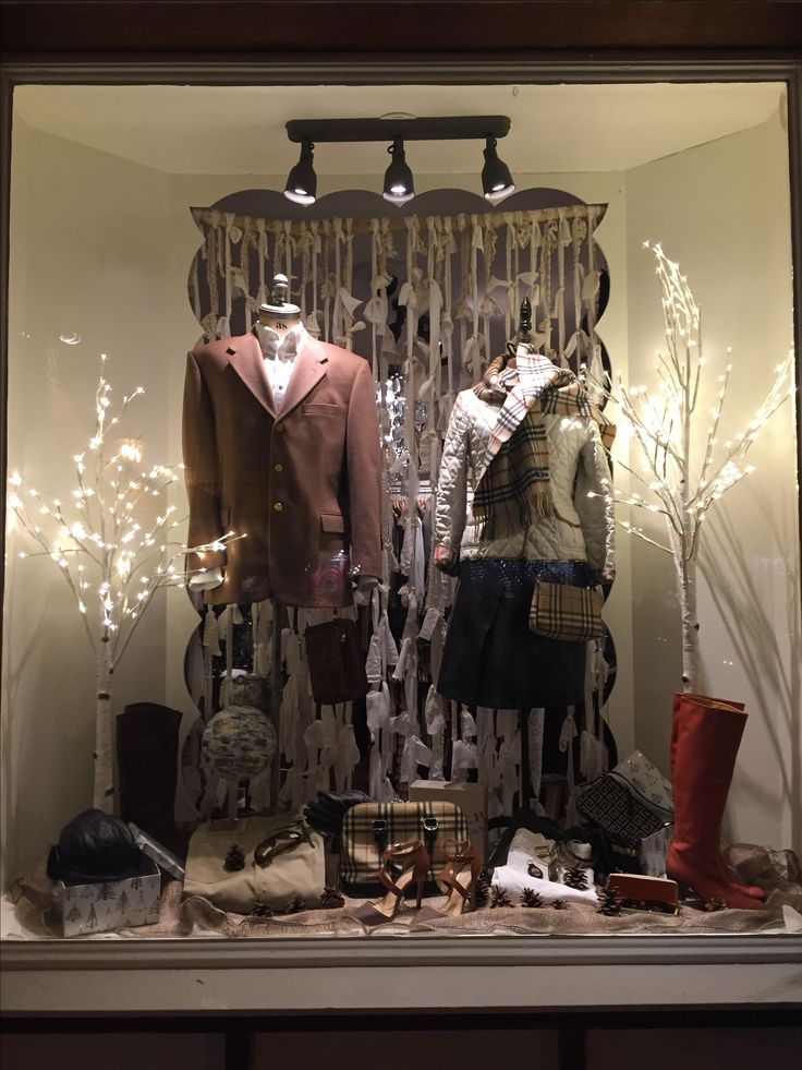 November window display at the Boutique
