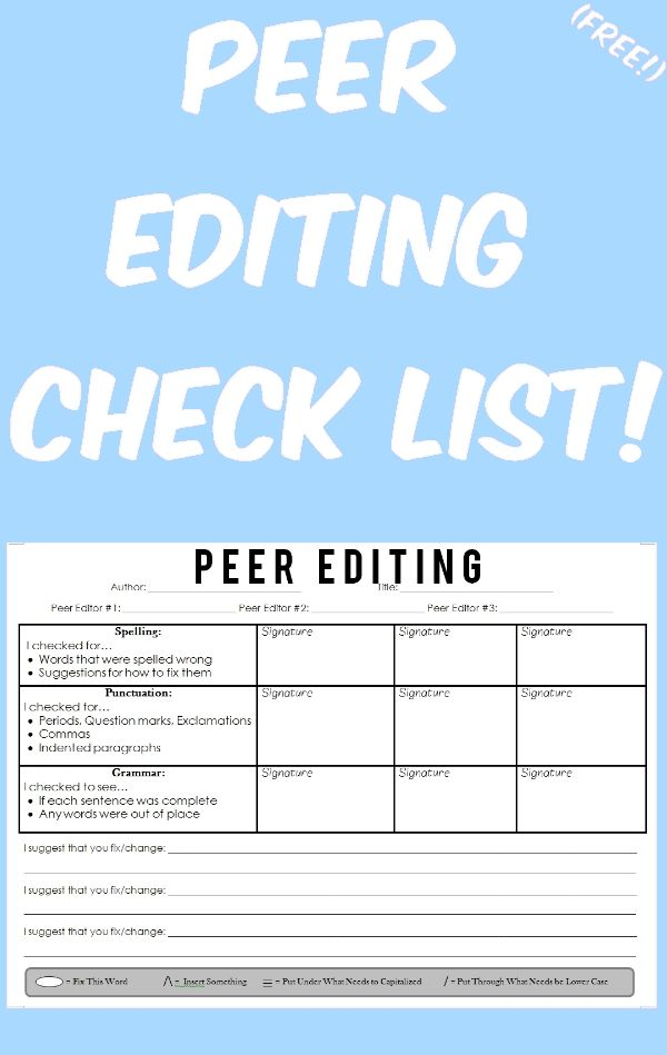 Essay editing checklist basic peer