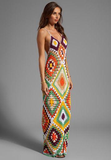 Outstanding Crochet: Indah Syra Crochet Maxi Dress In Tan