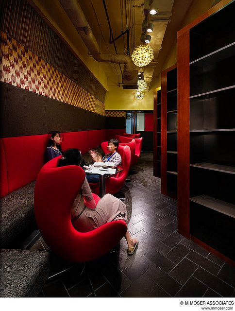 A cool office space design