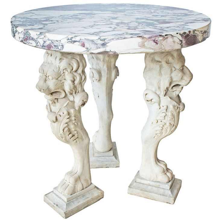 Italian Romanesque Grand Tour Marble Tripod Table c.1800 | From a unique collection of antique and modern center tables at http://www.1stdibs.com/furniture/tables/center-tables/