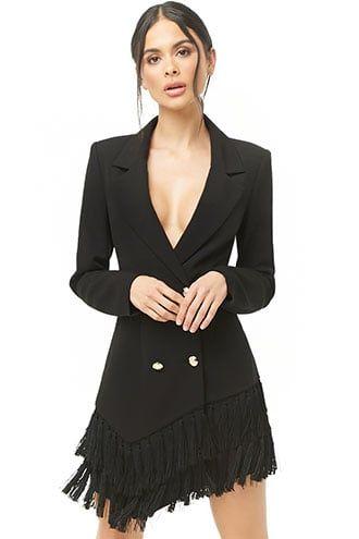19e420511260 Fringe Blazer Dress in 2019   Products   Blazer dress, Blazer, Dresses