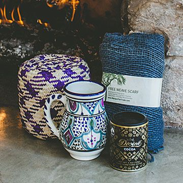 Cozy Global Gift Basket | Relaxation gifts, Handmade scarves | UncommonGoods