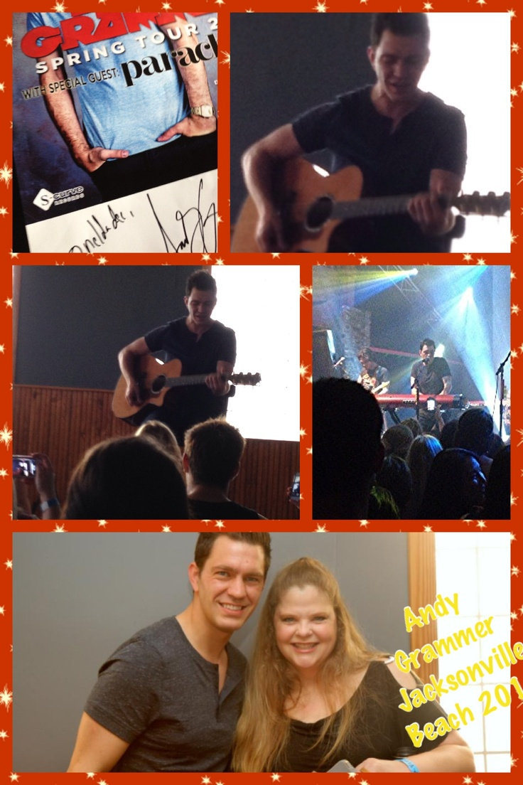 Collage of Andy Grammer concert April 2013