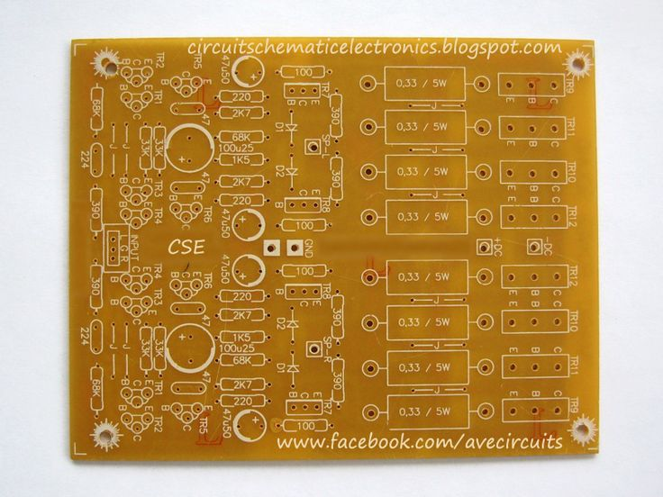 PCB Design PCB Layout Supwer Bass Power Amplifier 2SC2922-2SA1216