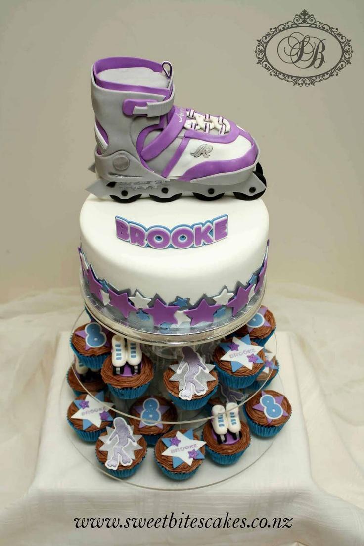 Roller Skate Cake Cupcakes She S Having A Roller Skating