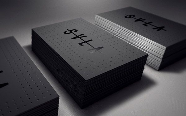 30 Business Card Designs with Bold Type | Inspiration