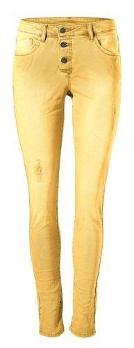 #B.C. #Best #Connections #By #Heine #Damen #Boyfriend #Hose #gelb 5-Pocket-Style zum Knöpfen. Crash-Optik mit Elasthan für den perfekten Sitz. Angesagter Used-Look mit Destroyed-Effekt. NorHerren Leibhöhe Schrittlänge bei Normal-Größen ca 74 cm, bei Kurz-Größen ca 68 cm. Materialzusammensetzung Obermaterial: 98% Baumwolle, 2% Elasthan.