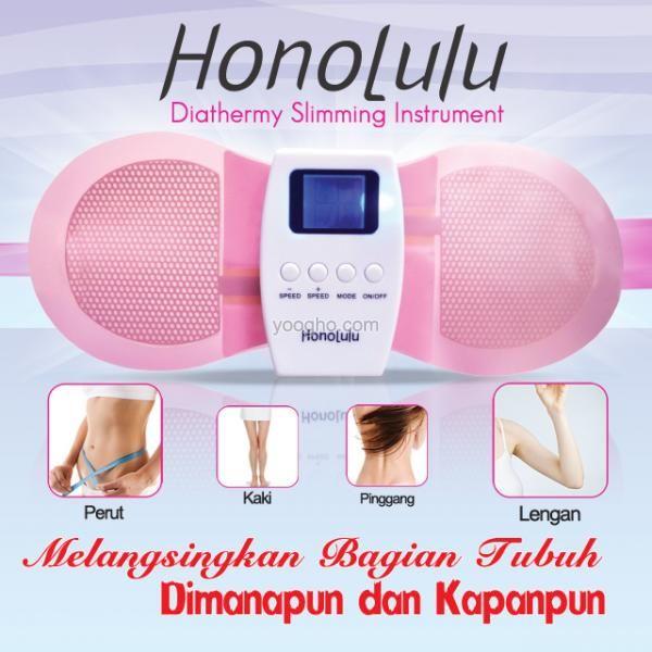 Honolulu Konyo Pelangsing Honolulu Koyo Electric produk terbaru yang dapat membakar lemak dan menyedot lemak keluar dari dalam tubuh melalui pori-pori kulit (keringat). Dapat menghancurkan lemak pada perut yang buncit,sangat efektif membentuk pinggang,bokong & pinggul menjadi kencang.  Pesan Sekarang Juga! PERSEDIAN TERBATAS