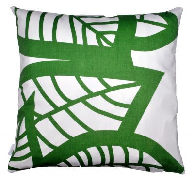 Mairo green Hosta cushion cover. Designed by Linda Svensson Edevint.