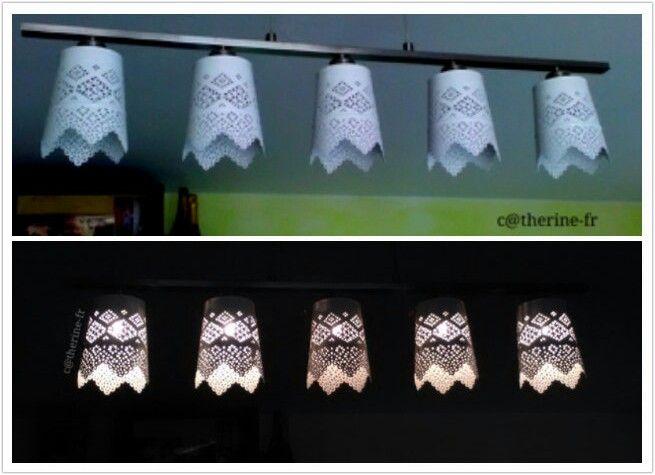 Nouveau lustre avec cache pots ikea...