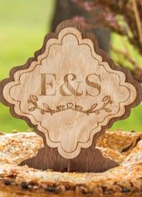 Personalized Wooden Sign Topper | Available through Piece O' Cake
