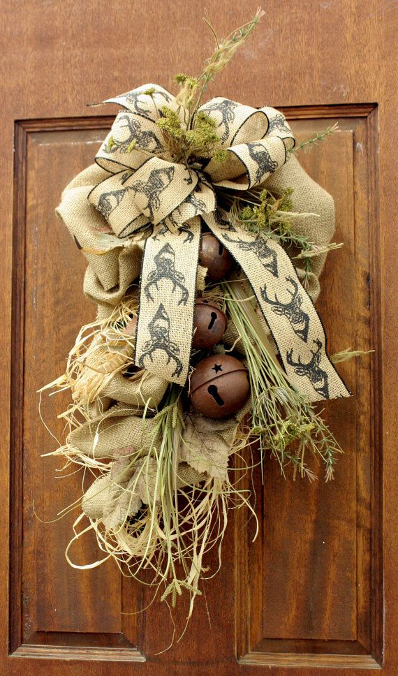 25 Unique Burlap Swag Ideas On Pinterest Christmas Door