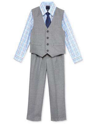 Nautica Little Boys' 3-Pc. Sharkskin Vest, Shirt