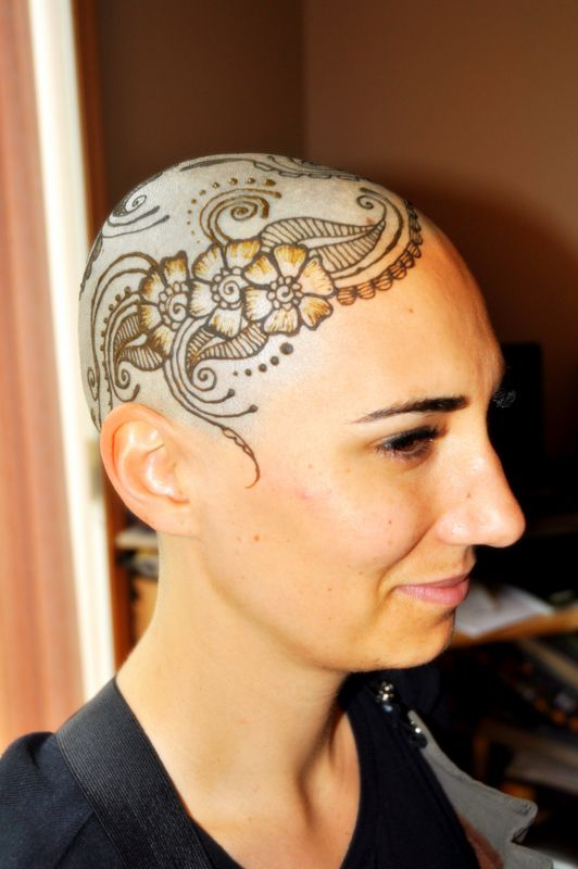 Henna designs for bald heads with henna artist henna for Full head tattoo