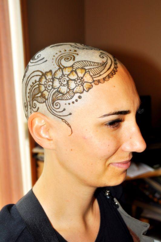 how to make bald head