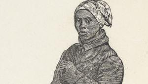 """""""A primeira mulher a liderar uma expedição armada na guerra, ela guiou o Combahee River Raid, que libertou mais de 700 escravos na Carolina do Sul.""""  Harriet Tubman - União Espião"""